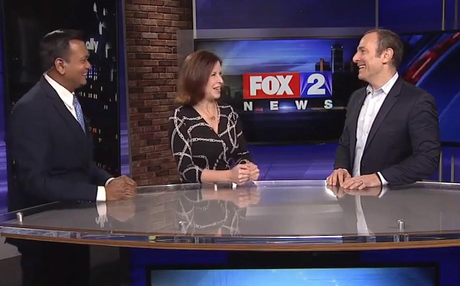 Jon talks with Roop Raj and Amy Lange on Fox 2 News