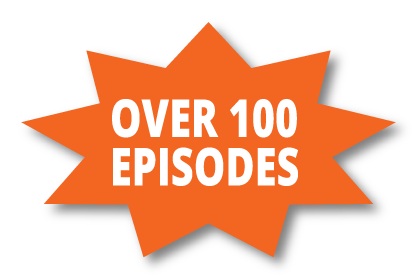 Over 100 Episodes graphic