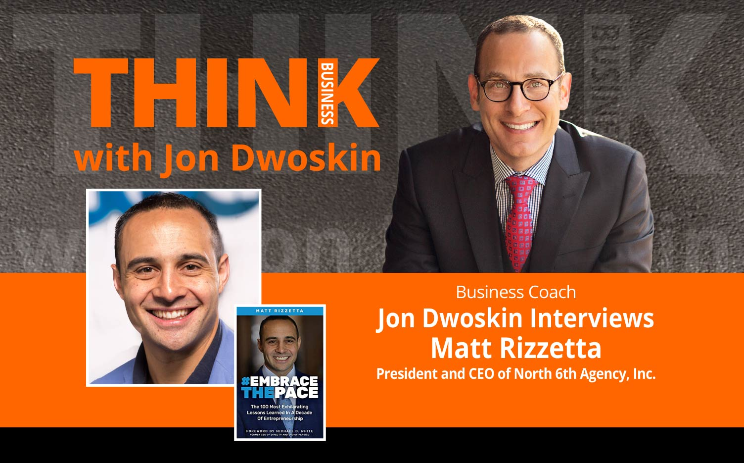 THINK Business Podcast: Jon Dwoskin Interviews Matt Rizzetta, President and CEO of North 6th Agency, Inc.