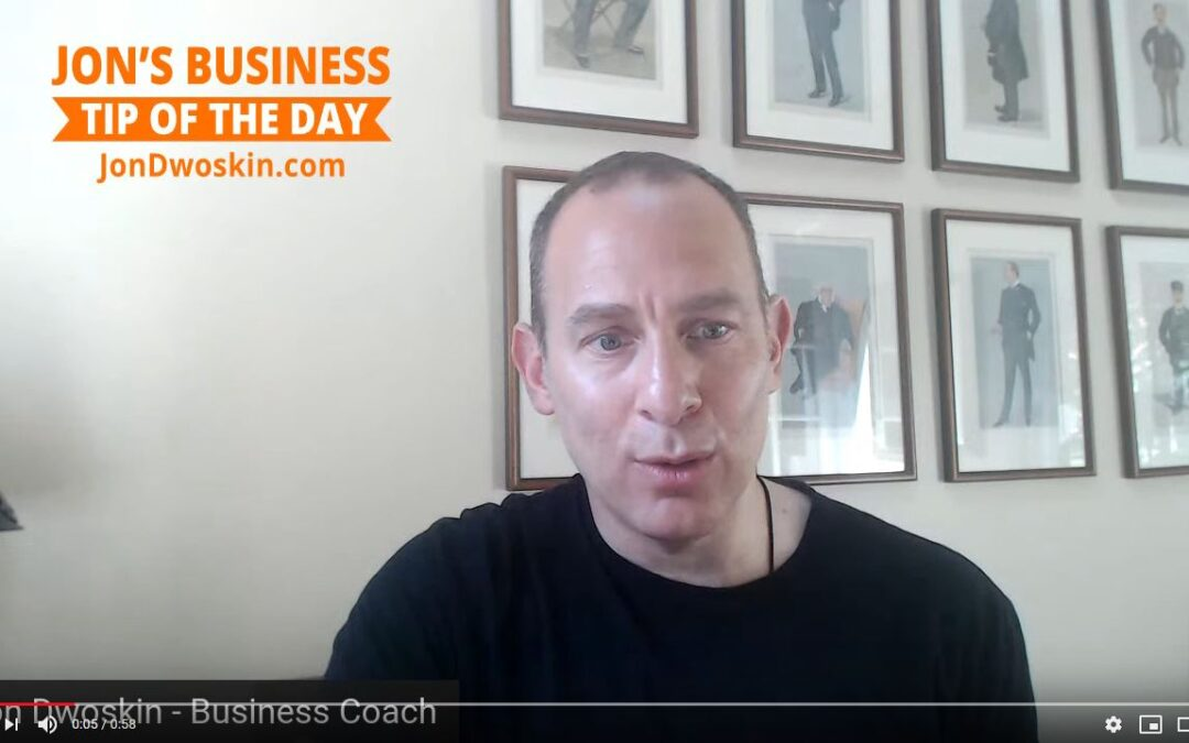 Jon's Business Tip of the Day: What does Your Pipeline Look Like Dec 2021?