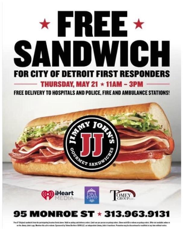 Jimmy John's Free Sandwich Graphic