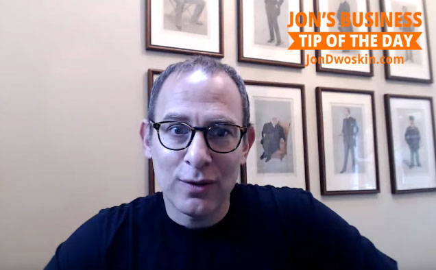 Jon's Business Tip of the Day: Stay Consistent!