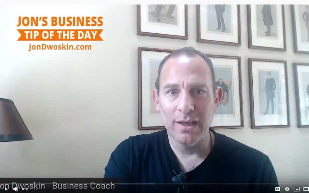 Jon's Business Tip of the Day: Have Three Mentors