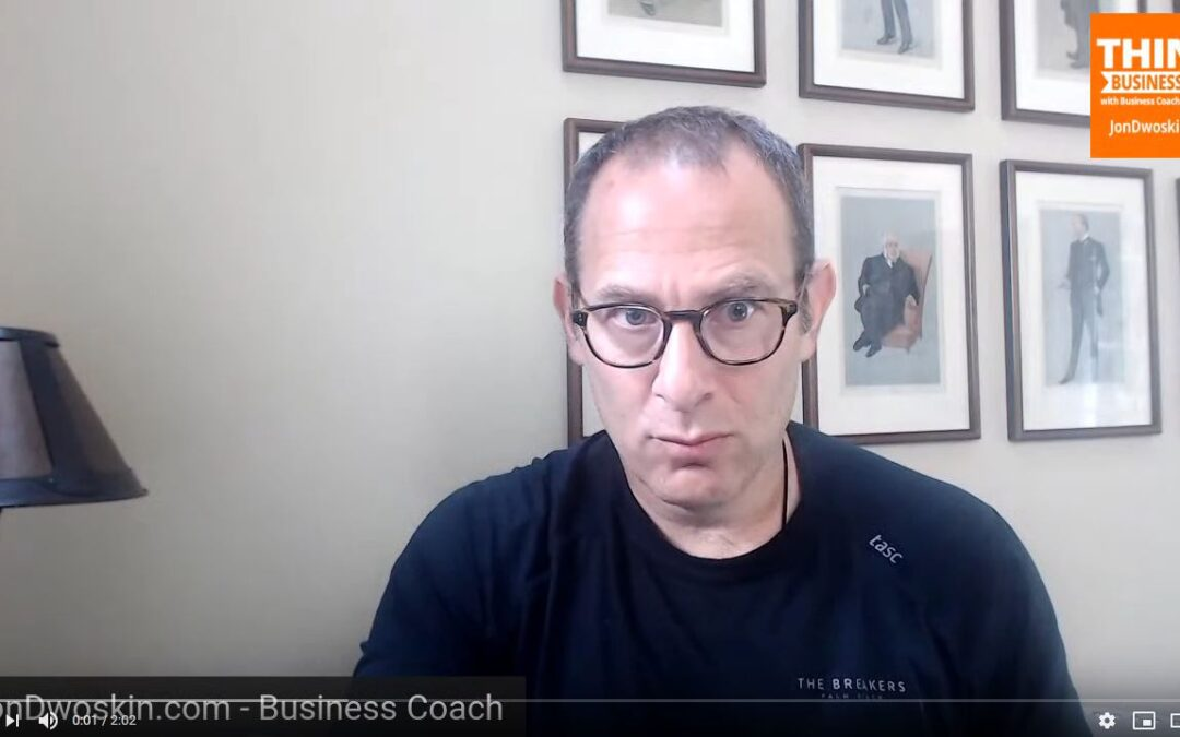 Jon's Business Tip of the Day: Create Your 30-Day Plan for August