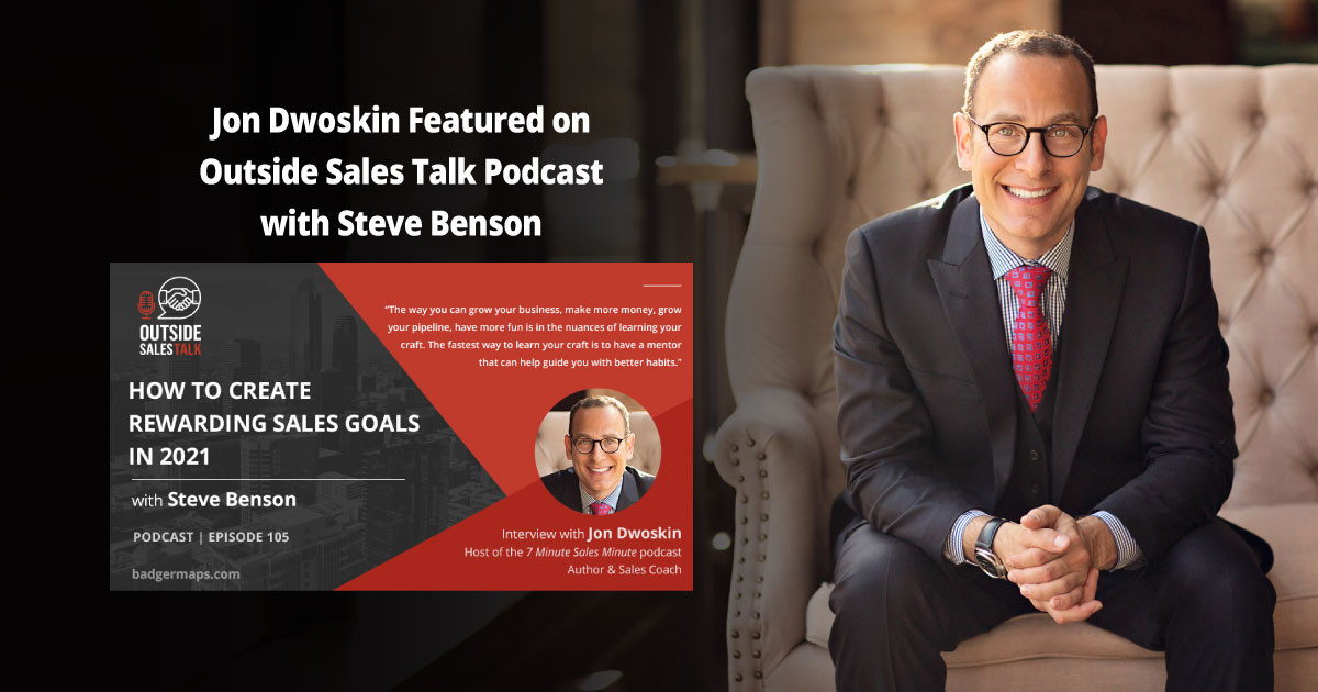 Jon Dwoskin Featured on Outside Sales Talk Podcast