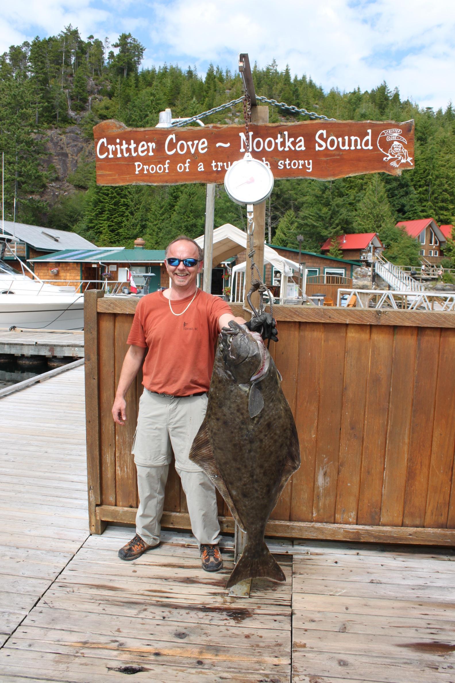 First big halibut - 45 lbs