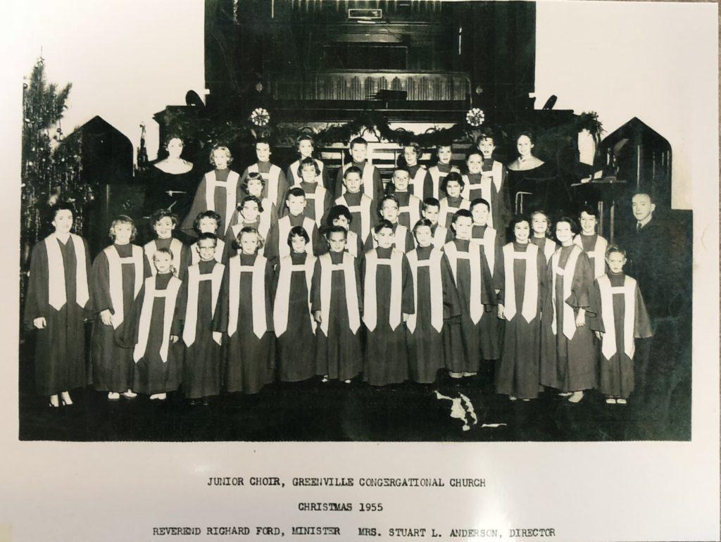 Junior Choir - Christmas 1955