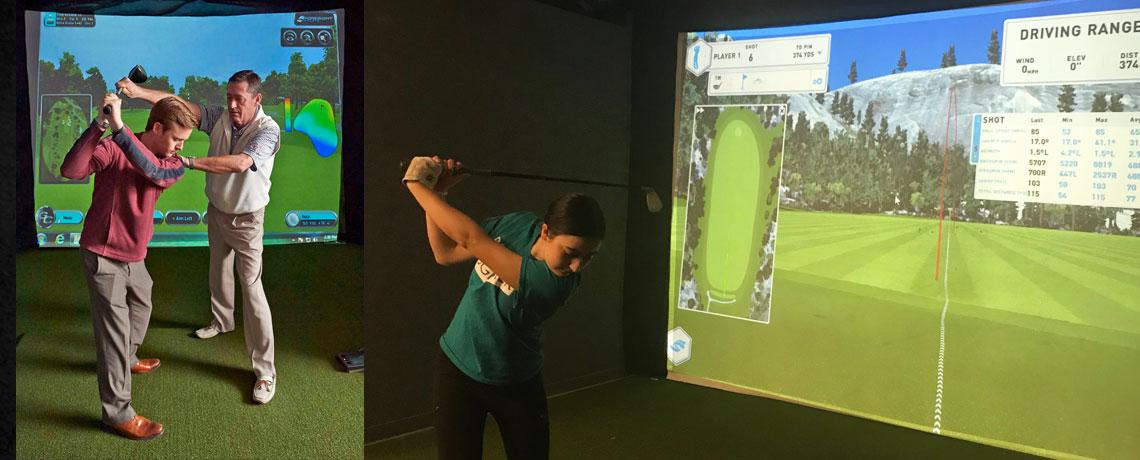 Golf Simulation & <br>Practice Bays