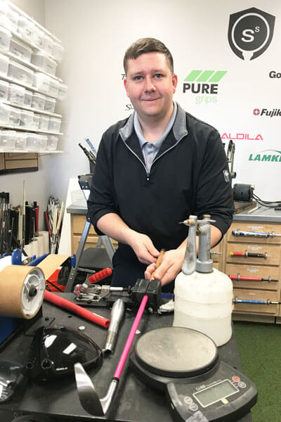 Jon Cornish, Ken Schall Golf club repair & adjustment