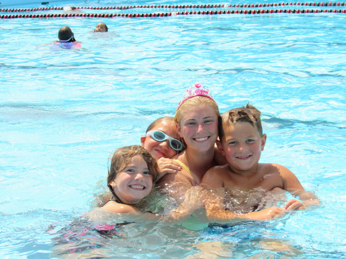 Home Page Mission Ariana with Kids in the Pool