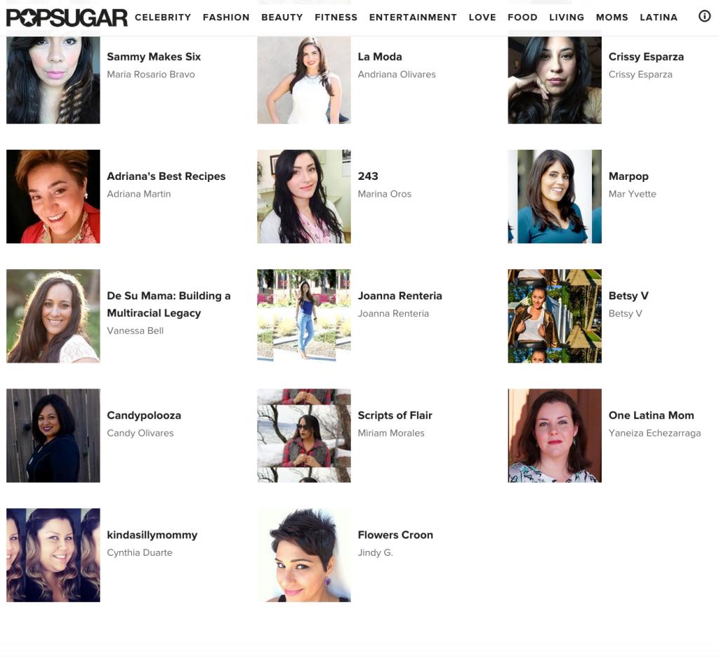 Popsugar Latina Bloggers