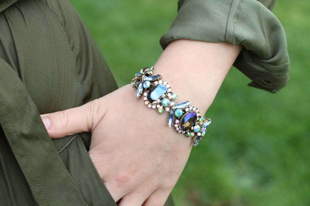 Jeweled Bug Line Bracelet