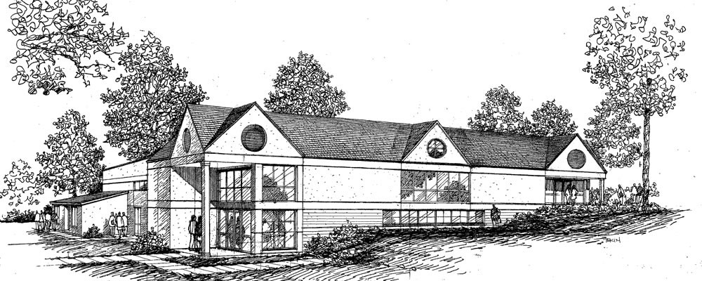 Athletics Building, Woodhall School - Rendering