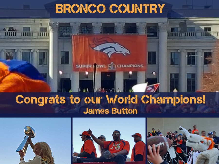 We are Broncos country! Congrats to our world champions!