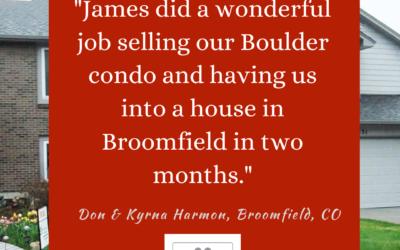 James did a wonderful job selling.