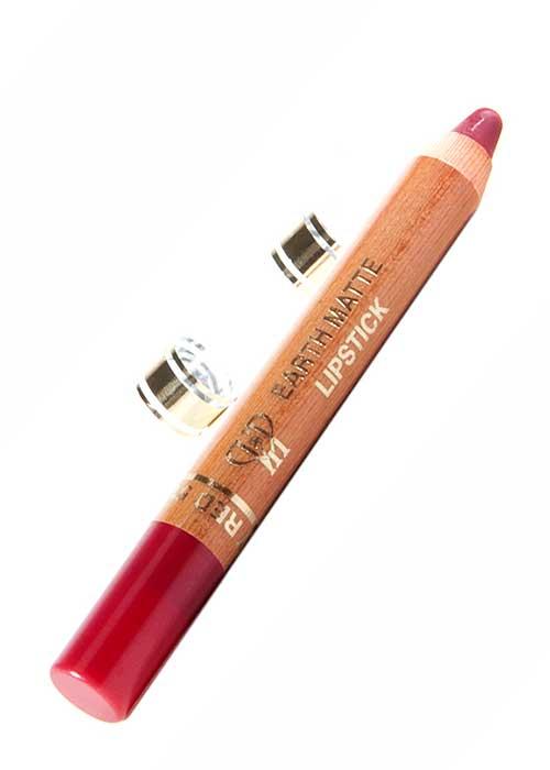 VIP Cosmetics - Lipstick Pencil Earth Matte Raspberry Red L51