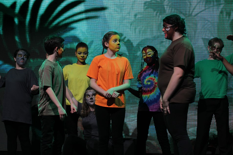 Performance photo featuring a jungle scene in Lion King Junior