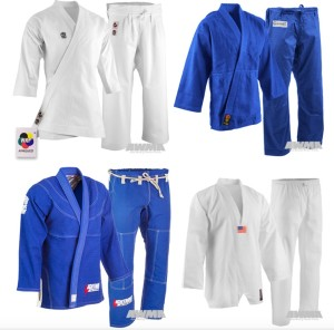 martial arts uniforms difference