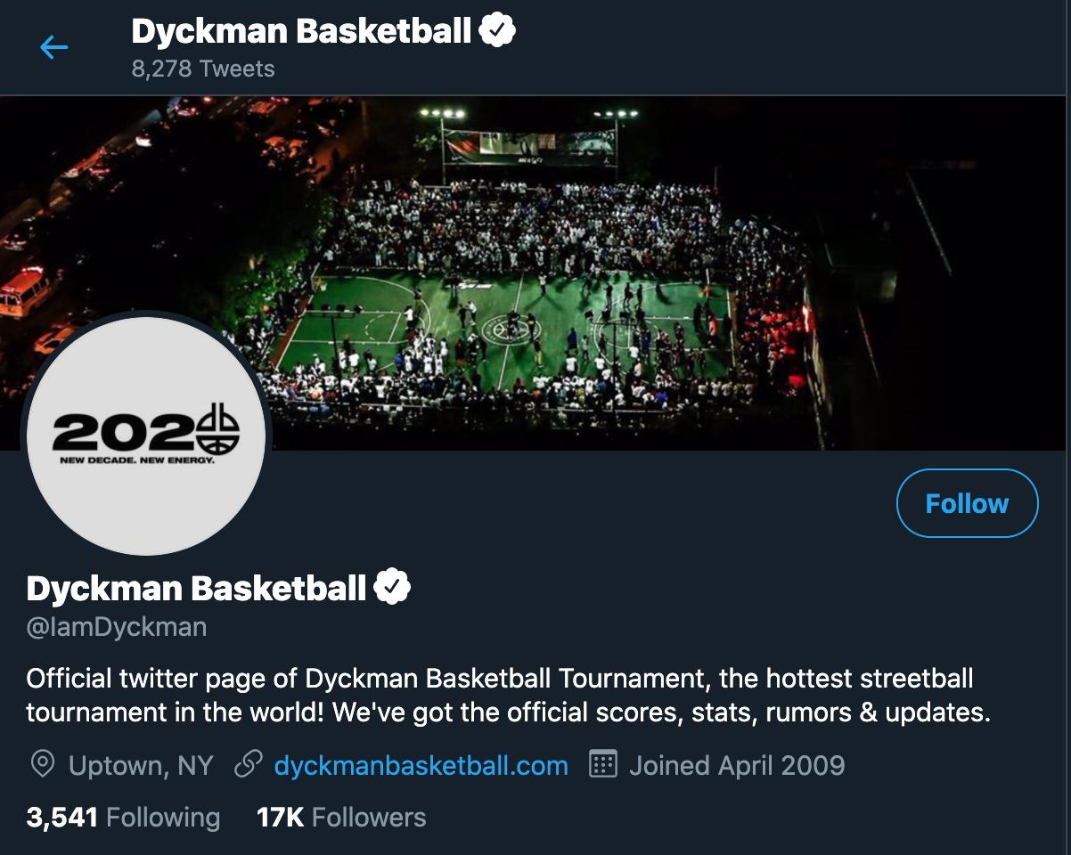 Dyckman Basketball Twitter