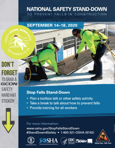 GCON Safety Stand Down Flyer