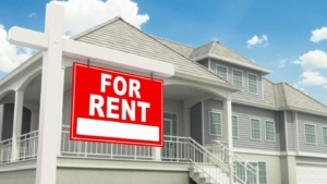 for rent home sign