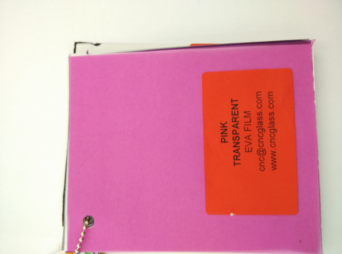 Pink EVAVISION transparent EVA interlayer film for laminated safety glass (14)