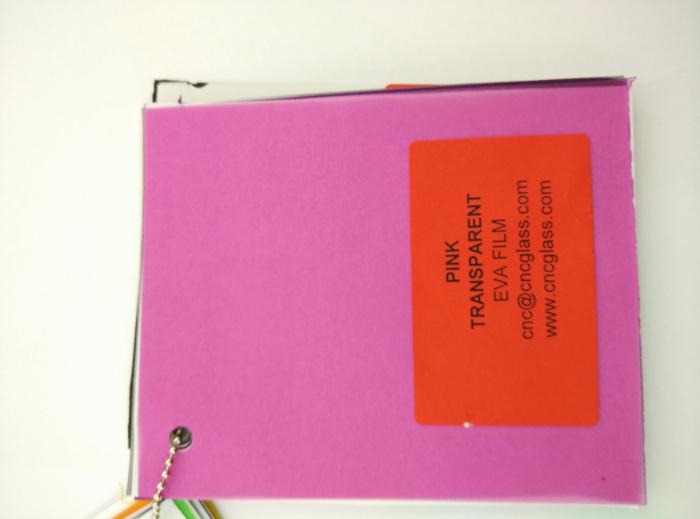 Pink EVAVISION transparent EVA interlayer film for laminated safety glass (15)