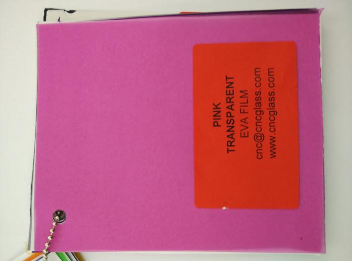 Pink EVAVISION transparent EVA interlayer film for laminated safety glass (26)