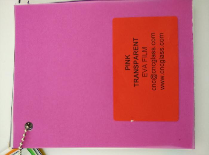 Pink EVAVISION transparent EVA interlayer film for laminated safety glass (28)