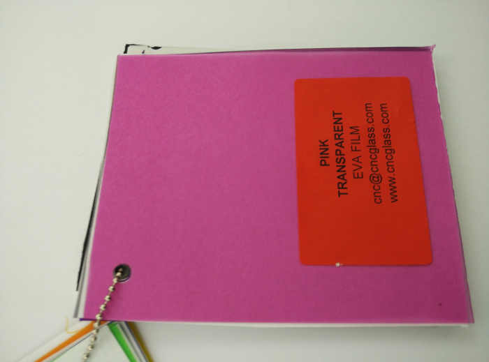 Pink EVAVISION transparent EVA interlayer film for laminated safety glass (30)