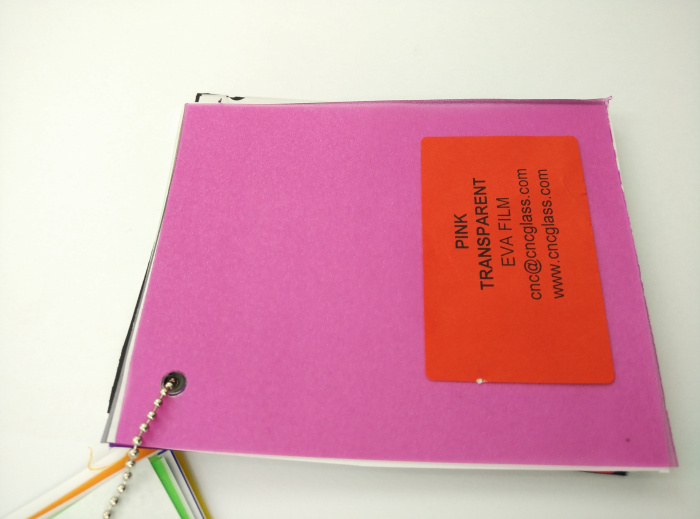 Pink EVAVISION transparent EVA interlayer film for laminated safety glass (36)
