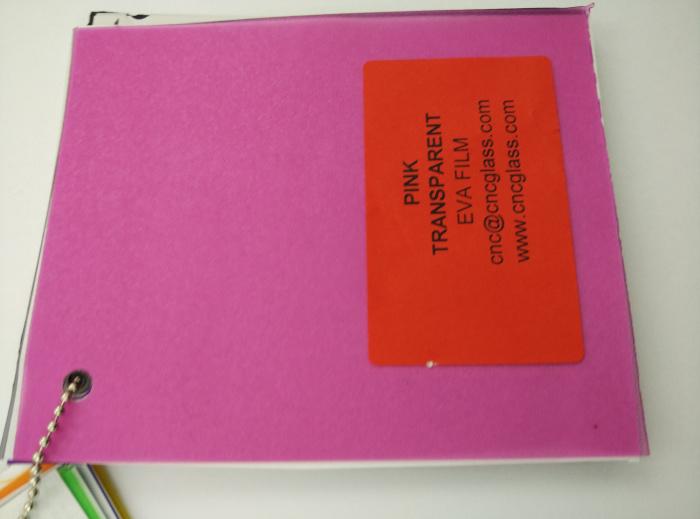 Pink EVAVISION transparent EVA interlayer film for laminated safety glass (43)