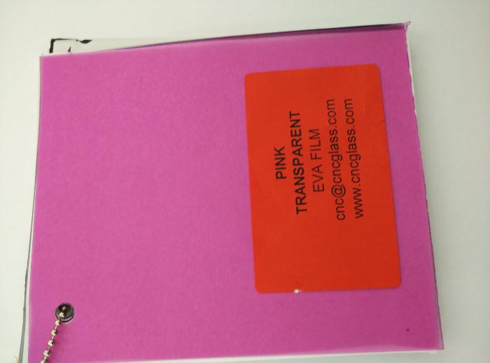 Pink EVAVISION transparent EVA interlayer film for laminated safety glass (44)