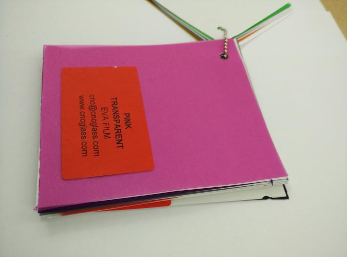 Pink EVAVISION transparent EVA interlayer film for laminated safety glass (49)