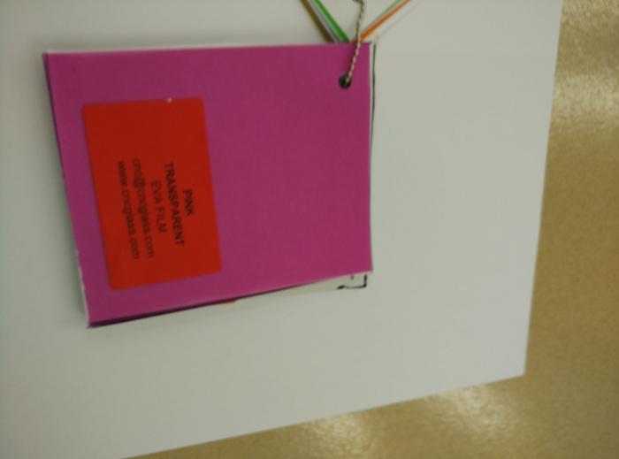 Pink EVAVISION transparent EVA interlayer film for laminated safety glass (52)