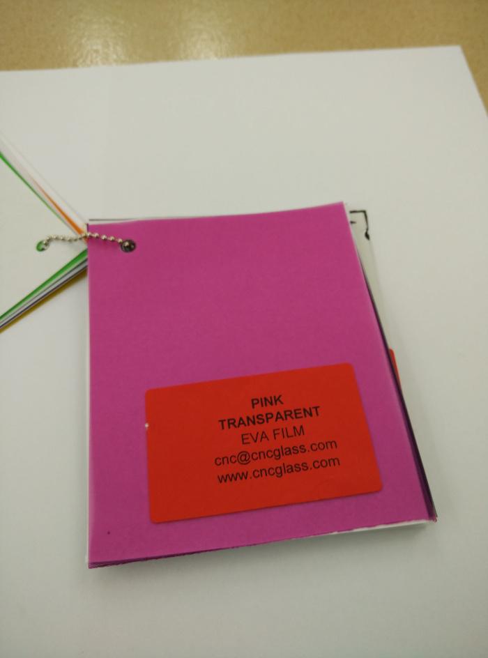 Pink EVAVISION transparent EVA interlayer film for laminated safety glass (57)