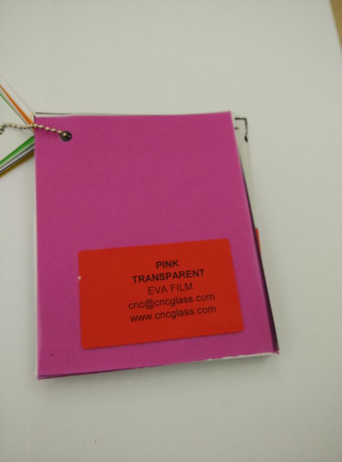 Pink EVAVISION transparent EVA interlayer film for laminated safety glass (61)