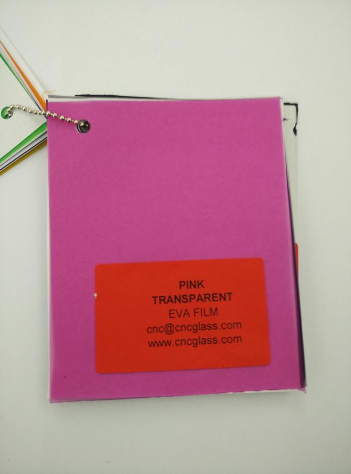 Pink EVAVISION transparent EVA interlayer film for laminated safety glass (7)