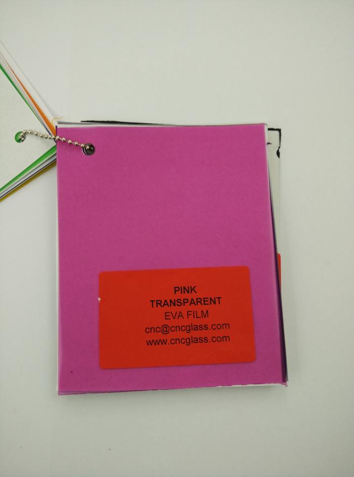 Pink EVAVISION transparent EVA interlayer film for laminated safety glass (9)