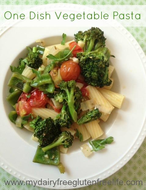 Easy One Dish Dinner, Vegetable Pasta