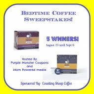 Counting Sheep Bedtime Coffee Giveaway:  5 Winners