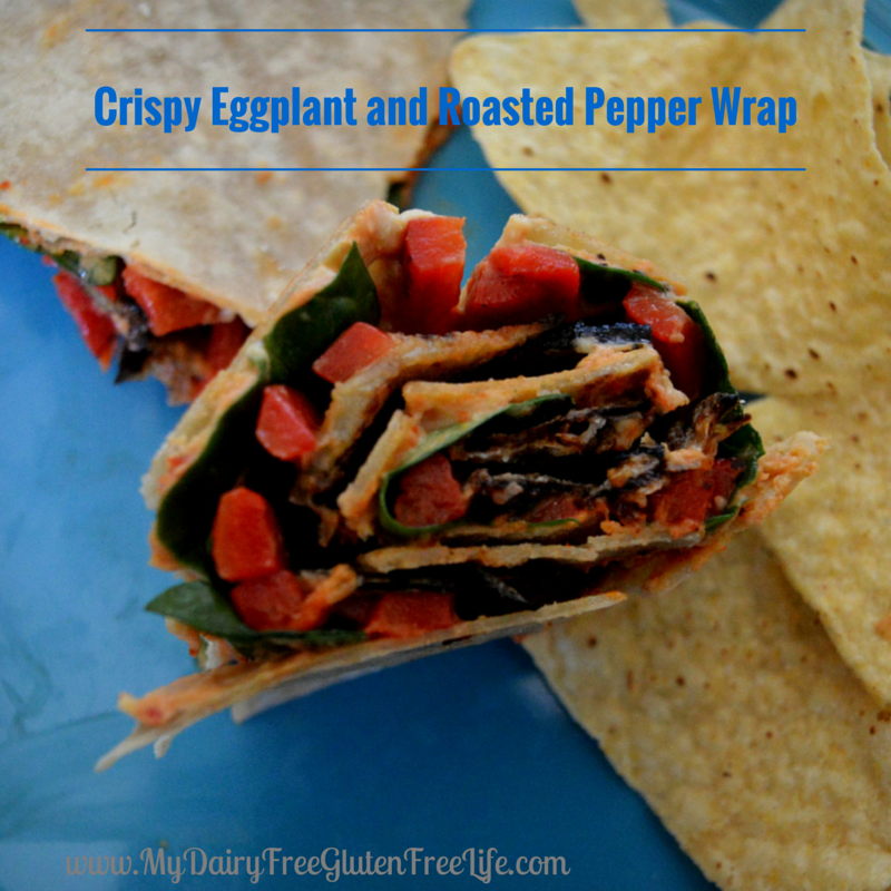 Crispy Eggplant and Roasted Pepper Wrap Recipe