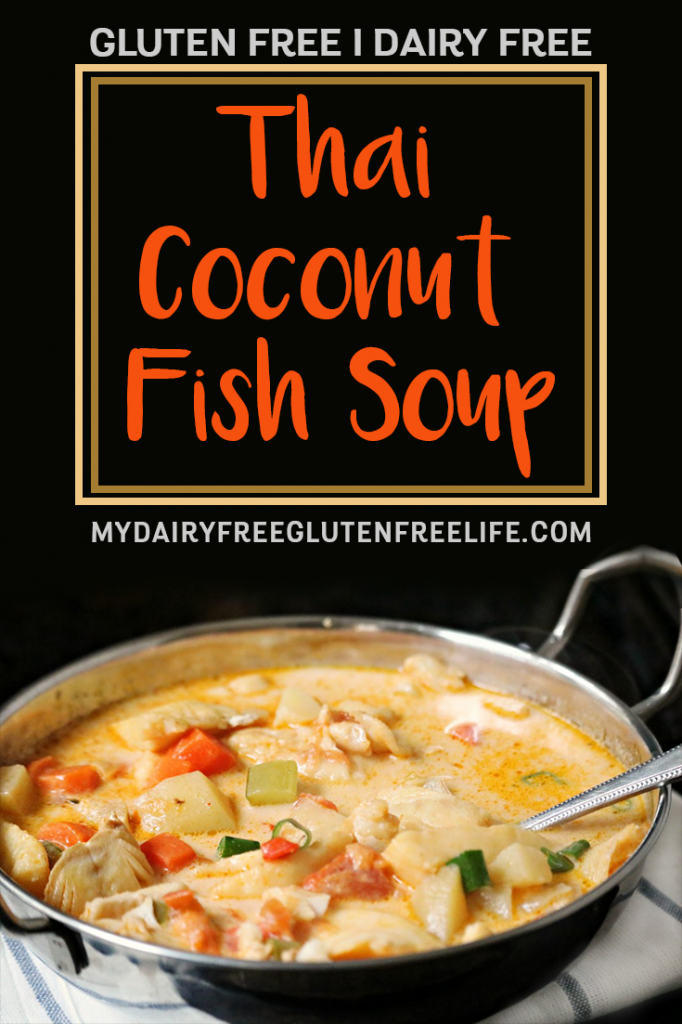 Thai Coconut Fish Soup - Gluten Free & Dairy Free | Fish Shop Thai Side Dish #glutenfree #thaisoup
