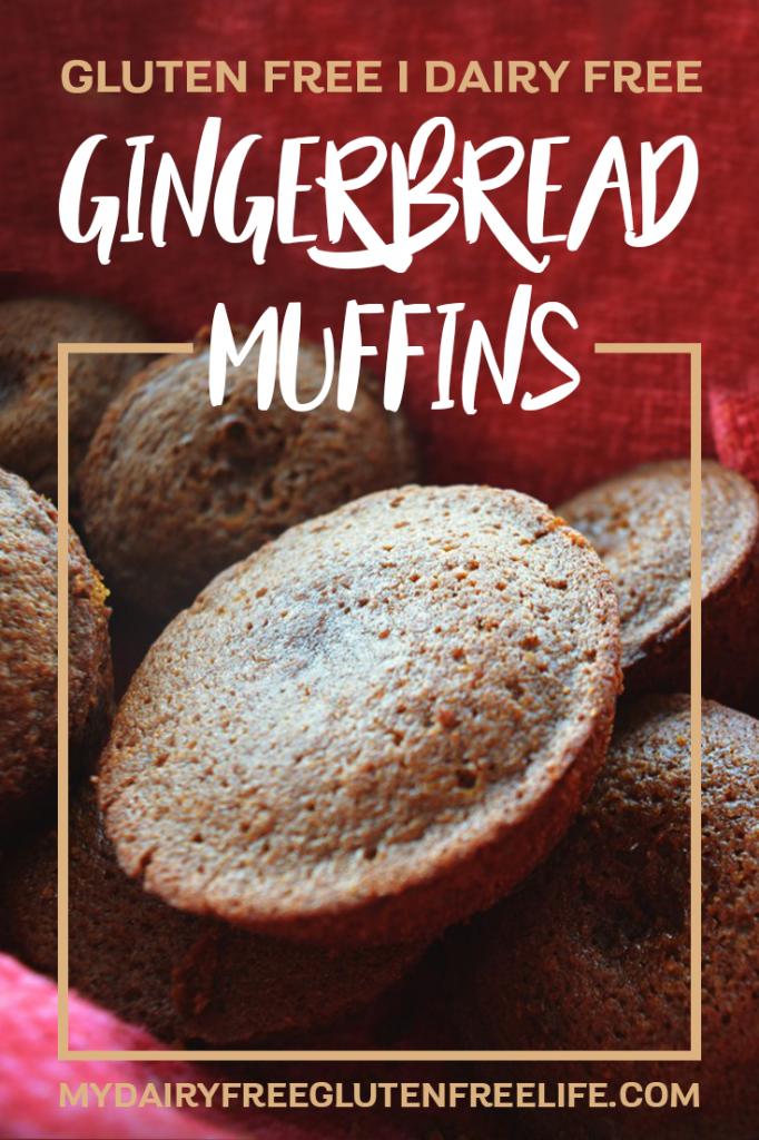 Dairy Free, Vegan & Gluten Free Gingerbread Muffins | Christmas Gingerbread Muffins | Gluten Free Gingerbread Snack #glutenfree