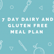 7 Day Dairy & Gluten Free Meal Plan