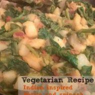 Indian Spinach Potato – Saag Aloo