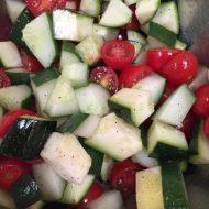 Cherry Tomato Cucumber Zucchini Salad