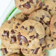 Best Ever Mrs Fields Knock Off Cookie Recipe, Choc Chip vegan & gluten free