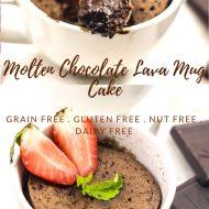 Molten Lava Chocolate Mug Cake, Dairy & Gluten Free, Paleo