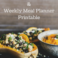 High Quality Meatless Proteins and Weekly Meal Planner Printable